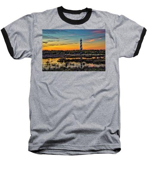 Cape Hatteras Lighthouse Baseball T-Shirt