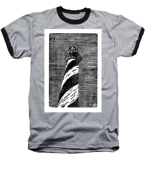 Cape Hatteras Lighthouse II Baseball T-Shirt by Ryan Fox
