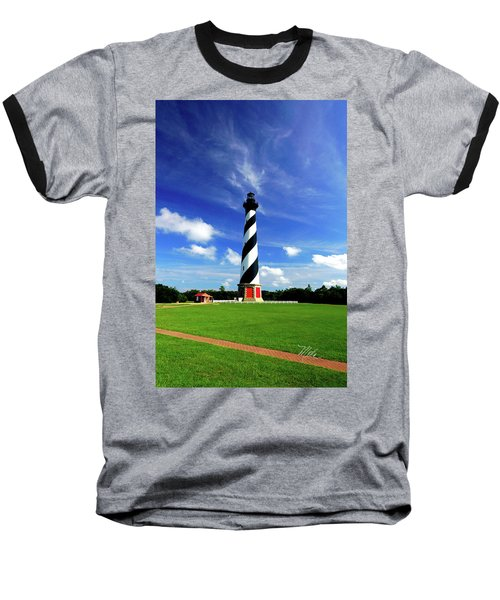 Baseball T-Shirt featuring the photograph Cape Hatteras Lighthouse by Meta Gatschenberger