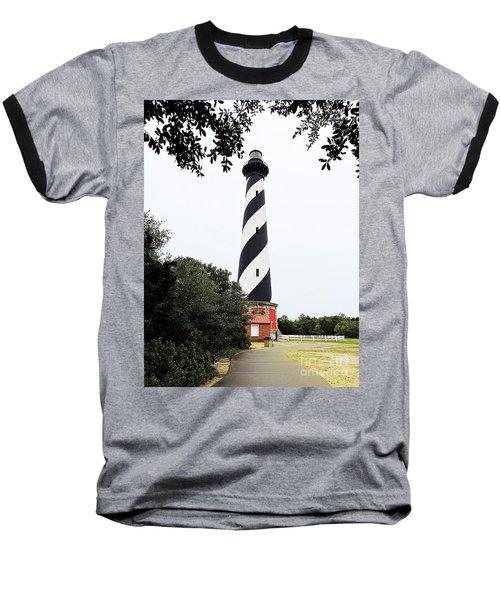 Cape Hatteras Lighthouse Baseball T-Shirt by Shelia Kempf