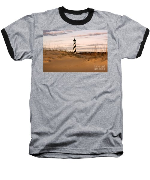 Cape Hatteras Lighthouse Baseball T-Shirt by Tony Cooper
