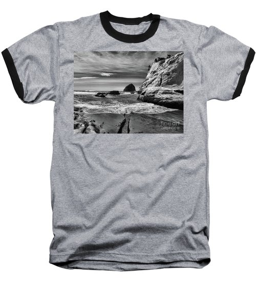 Cape Kiwanda Seascape Baseball T-Shirt by Scott Cameron