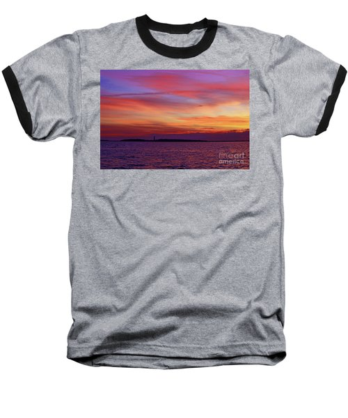 Cape Lookout Lighthouse At Sunrise Baseball T-Shirt