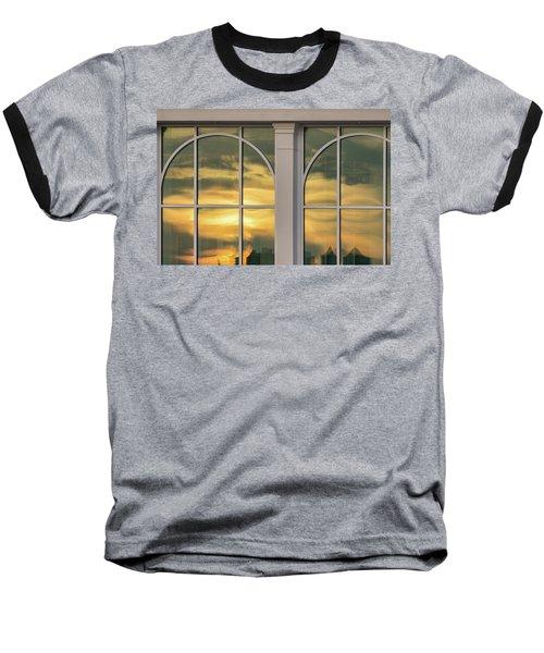 Cape May Abstract Sunset Reflection Baseball T-Shirt