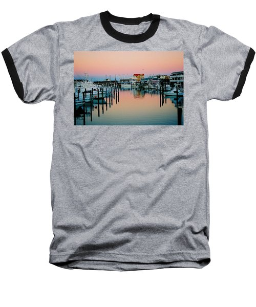 Baseball T-Shirt featuring the photograph Cape May After Glow by Steve Karol