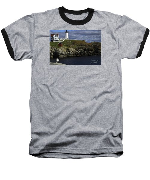 Baseball T-Shirt featuring the photograph Cape Neddick Lighthouse by Mim White