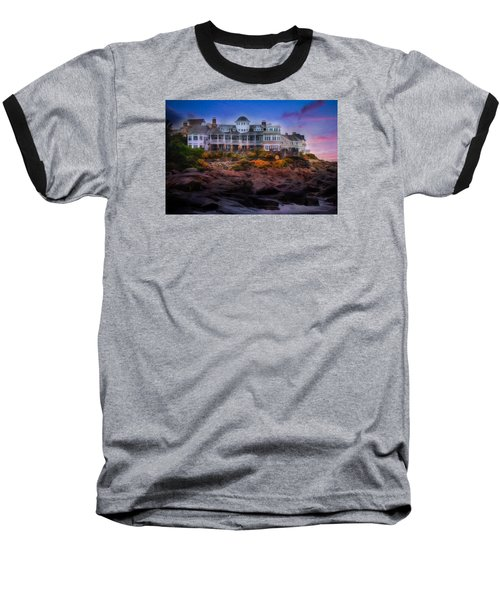 Baseball T-Shirt featuring the photograph Cape Neddick Maine Scenic Vista by Shelley Neff