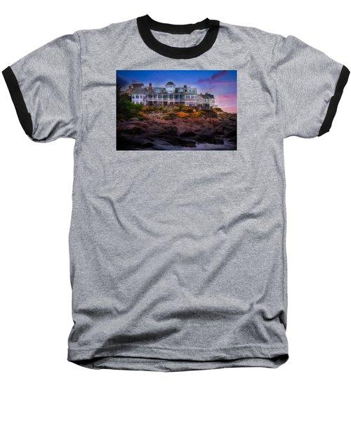 Cape Neddick Maine Scenic Vista Baseball T-Shirt