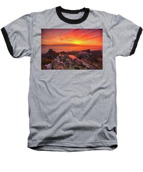 Cape Neddick Sunrise Baseball T-Shirt