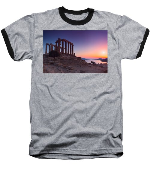Cape Sounion Baseball T-Shirt