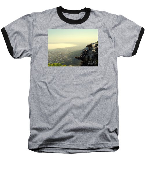 Cape Town View From Table Rock Baseball T-Shirt by John Potts