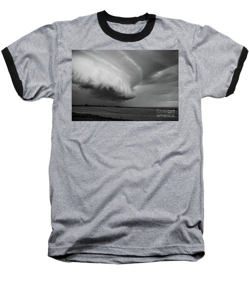 Baseball T-Shirt featuring the photograph Cape Tyron Vortex Black And White by Edward Fielding