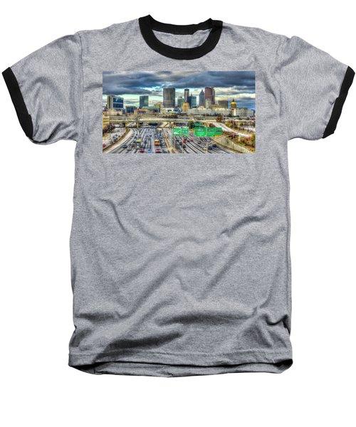 Capital Of The South Atlanta Skyline Cityscape Art Baseball T-Shirt
