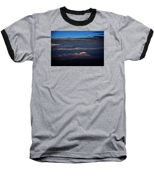 Baseball T-Shirt featuring the photograph Capitol Butte In Sedona With Snow by Ron Chilston