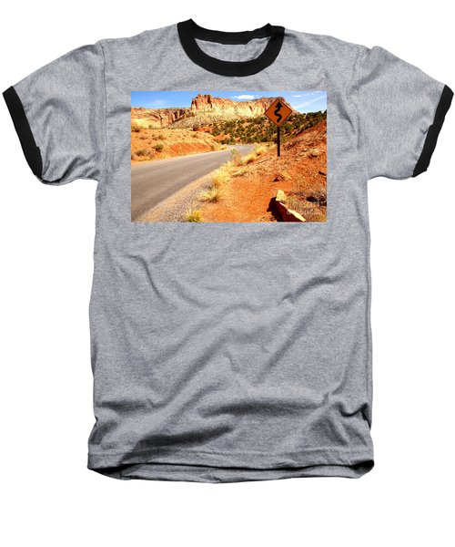 Baseball T-Shirt featuring the photograph Capitol Curves Ahead by Adam Jewell