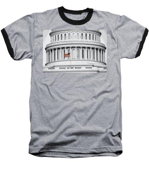 Baseball T-Shirt featuring the photograph Capitol Flag by John Schneider