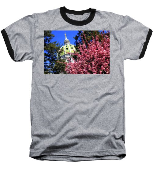 Capitol In Bloom Baseball T-Shirt by Shelley Neff