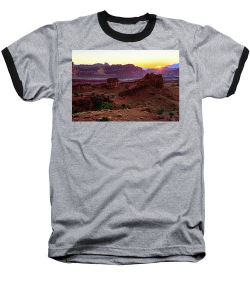 Capitol Reef Sunrise Baseball T-Shirt