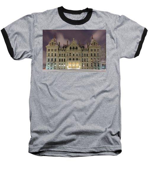 Capitol Snow Baseball T-Shirt