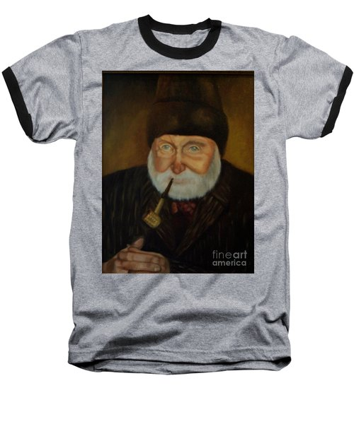 Baseball T-Shirt featuring the painting Cap'n Danny by Marlene Book