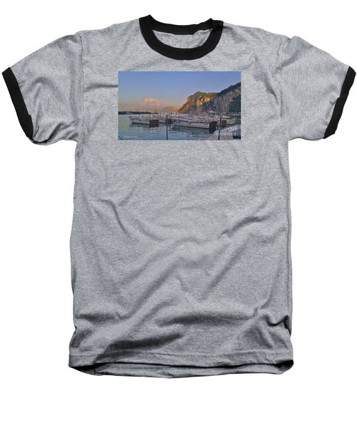 Capri- Harbor Boats Baseball T-Shirt