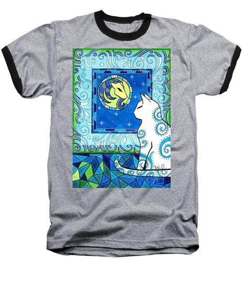 Capricorn Cat Zodiac Baseball T-Shirt