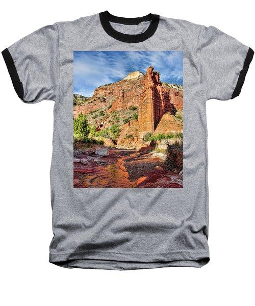 Caprock Canyon Cliff Baseball T-Shirt