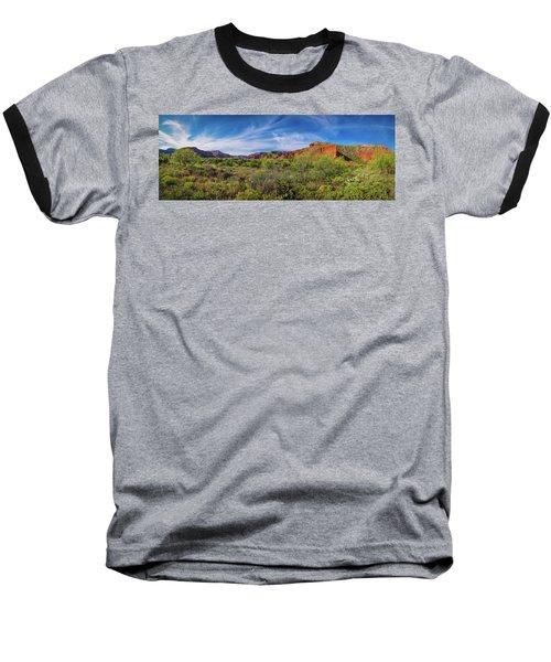 Caprock Canyon Panorama 2 Baseball T-Shirt