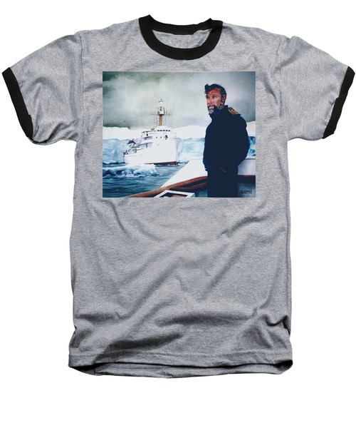 Capt Derek Law Baseball T-Shirt by Tim Johnson