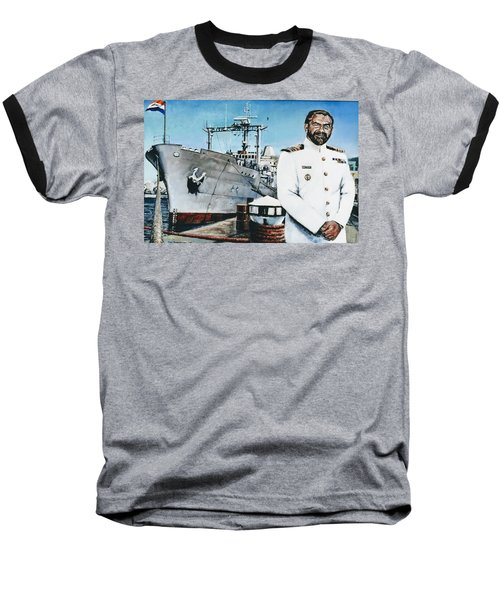 Capt Eric Green Baseball T-Shirt by Tim Johnson