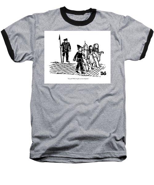 Captain Ahab Stands Speaking At The Yellow Brick Baseball T-Shirt