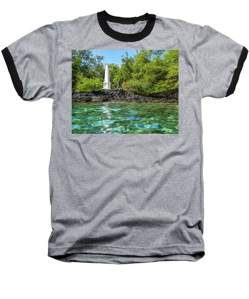 Captain Cook Monument Baseball T-Shirt