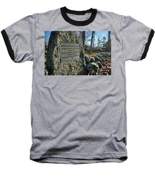 Captain John Locke Monument  Baseball T-Shirt