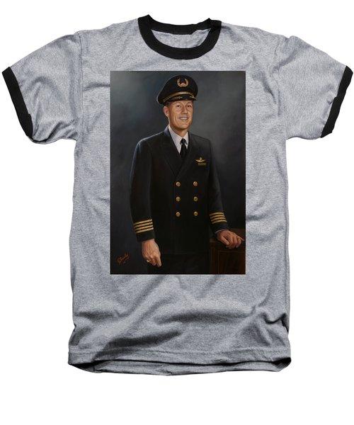 Baseball T-Shirt featuring the painting Captain Max Livingston by Glenn Beasley