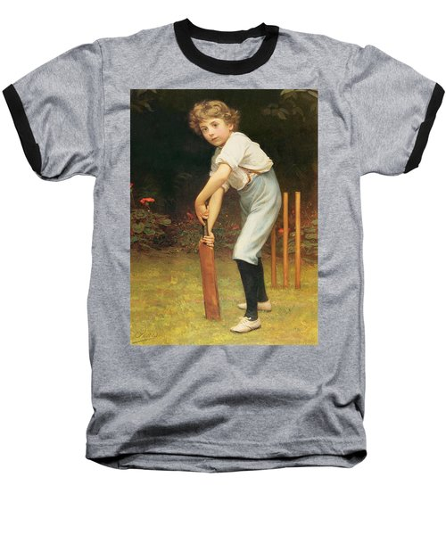 Captain Of The Eleven Baseball T-Shirt by Philip Hermogenes Calderon
