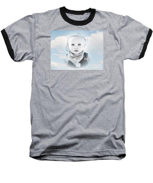 Captain Of The Sea Baseball T-Shirt by Karen Lewis