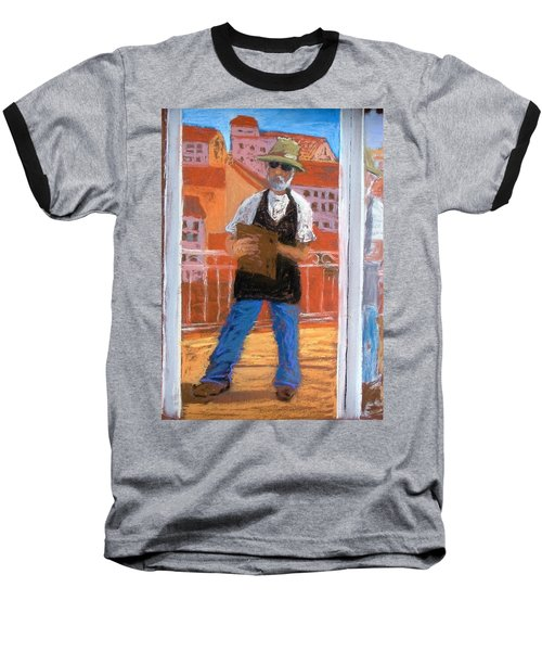 Baseball T-Shirt featuring the painting Captured In Antibes by Gary Coleman