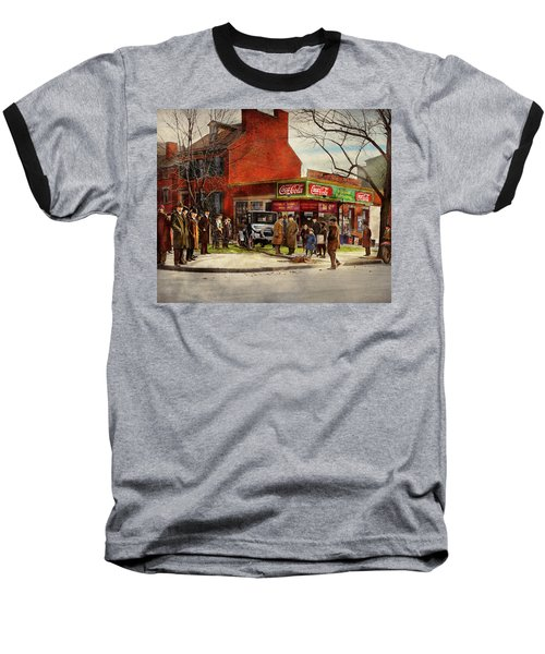 Baseball T-Shirt featuring the photograph Car - Accident - Looking Out For Number One 1921 by Mike Savad