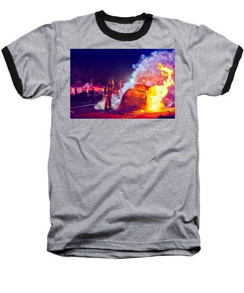 Car Arson  Baseball T-Shirt by TC Morgan