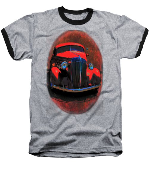 Car Art 0443 Red Oval Baseball T-Shirt