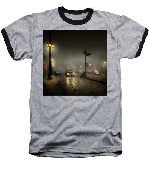 Baseball T-Shirt featuring the photograph Car - Down A Lonely Road 1940 by Mike Savad
