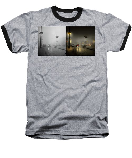 Baseball T-Shirt featuring the photograph Car - Down A Lonely Road 1940 - Side By Side by Mike Savad