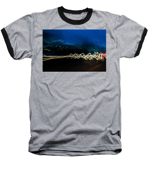 Car Light Trails At Dusk In City Baseball T-Shirt