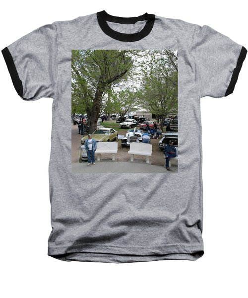Baseball T-Shirt featuring the photograph Car Show In Deming N M by Jack Pumphrey