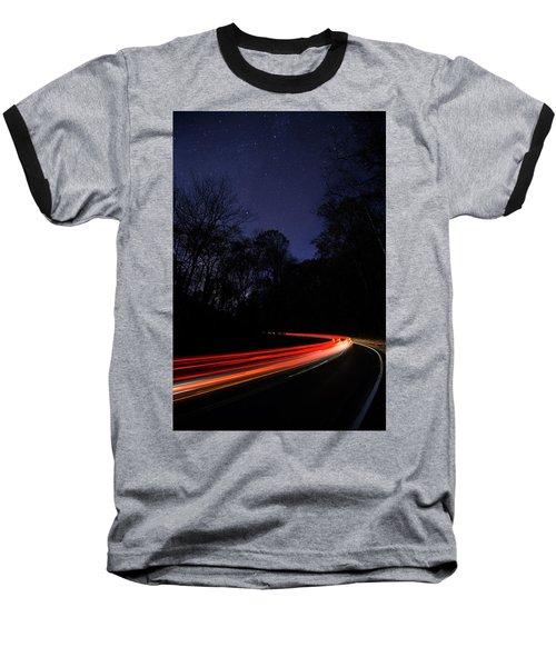 Car Trails Baseball T-Shirt