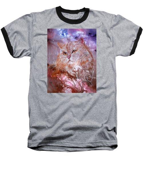 Caramel Cream Baseball T-Shirt by Sherry Shipley