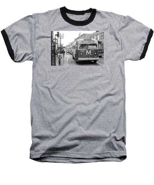 Caravan Of Buses On Nicollet Mall Baseball T-Shirt