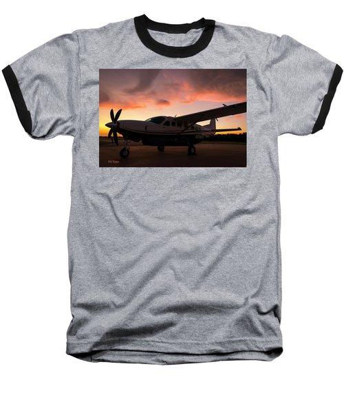 Caravan On The Ramp In The Sunset Baseball T-Shirt