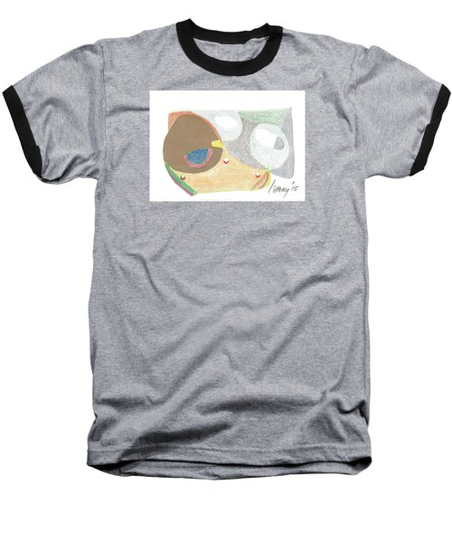 Baseball T-Shirt featuring the drawing Card 5 by Rod Ismay