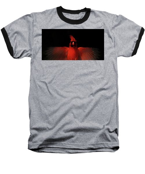 Cardinal Drama Baseball T-Shirt